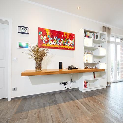Wohnzimmer Holztisch