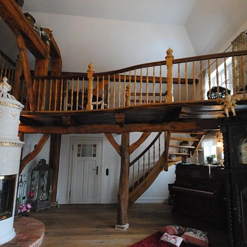 Treppe aus Holz